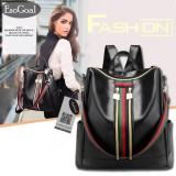 Jvgood Women Lightweight Leather Strip Backpack Purse Versatile Shoulder Bag With Shoulder Straps Discount Code
