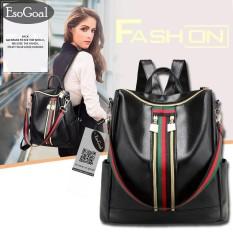 Low Price Jvgood Women Lightweight Leather Strip Backpack Purse Versatile Shoulder Bag With Shoulder Straps