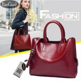 Discount Jvgood Womens Large Capacity Leather Bag Top Handle Satchel Handbag Fashion Purse Messenger Tote Shoulder Bag Jvgood