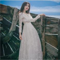 Jvivi Hot Sales Women Elegant Lace Party Dress Long Sleeve Floor Length Summer Casual Long Maxi Dress Ladies Wedding Evening Party Ball Gown Dress Intl Cheap