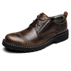 Best Buy Kailijie Men S Fashion Genuine Leather Business Formal Shoes Brown