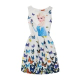 Price Kaituo Elsa Dress Anna Princess Party Dress For Girls Butterfly Print Baby G*rl Clothes Intl Kaituo New