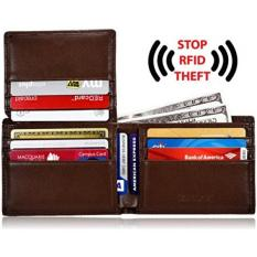 Buy Kalmore Men S Rfid Blocking Flip Id Window Travel Bifold Genuine Leather Wallet In Gift Box Not Specified Cheap