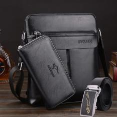 Kangaroo Men S Leisure Business Bag Black Three Sets Black Three Sets Best Buy
