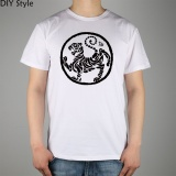 Discounted Karate Kick Mma Shotokan Mens T Shirt Cotton Brand T Shirt Men New Short Sleeved Round Neck Tee White Intl