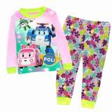 Compare Kid Clothing Robot Car Poli Rescue Team Pajamas Amber Roy Heli Poli Sleepwear Home Clothes