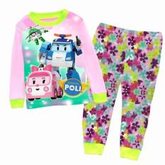 Best Offer Kid Clothing Robot Car Poli Rescue Team Pajamas Amber Roy Heli Poli Sleepwear Home Clothes