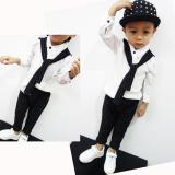 Great Deal Kids Boys Clothing Sets Shirt And Tie Pocket Pants Clothes Suit For 2 To 6 Age Little Boy