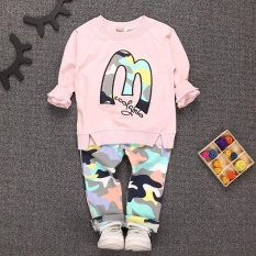 Cheapest Kids Clothes Set Baby Boys Girls Clothes Suit Toddler Boys Clothing Long Sleeve Tshirt Pants Casual Tracksuits Children Clothes Intl