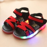 Kids Fashion Led Light Sandals Baby Breathable Comfortable Sneakers Red Intl Deal