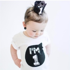 Who Sells Kids Fashion T Shirt Boy G*rl Birthday Gift Cotton Blouse 1 To 4 Year T Shirts Tops I M 1,color White Intl