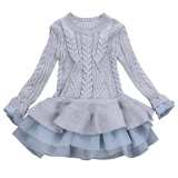 Buy Kids Girls Knitted Sweater Winter Pullovers Crochet Tutu Dress Tops Clothes Intl China