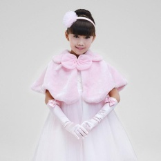 Buy Kids Girls Shawl Cape Cover Up Faux Fur Shrug Bridesmaid Clothing(Pink) Intl On China