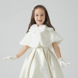 Price Kids Girls Shawl Cape Cover Up Faux Fur Shrug Bridesmaid Clothing(White) Intl Online China
