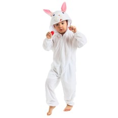 Buy Kids One Piece Easter Rabbit Bunny Cosplay Costume Pajamas Homewear Suit Jumpsuits For Easter Halloween Christmas Holiday Party Birthday White Intl Hong Kong Sar China