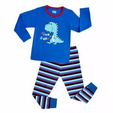 Kids Pajamas Blue Dinosaurs Pajamas Sleepwear By Eddalabz.