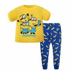 Best Reviews Of Kids Pyjamas Minion Banana Short Sleeve Pajamas Sleepwear