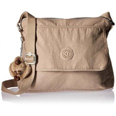 Brand New Kipling Aisling Solid Crossbody Bag Hummus Intl