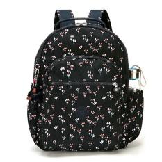 Kipling Seoul Up Backpack Unisex Nylon Rucksack Large Size (Floral K21305 60M Multicolor) - intl