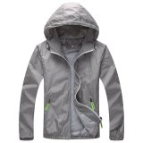 Wholesale Kisnow Anti Uv Sports Outdoor Korean Unisex Skin Care Light Jackets Windbreakers Color Grey Intl
