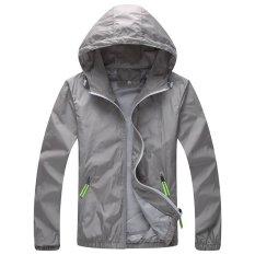 Where Can I Buy Kisnow Anti Uv Sports Outdoor Korean Unisex Skin Care Light Jackets Windbreakers Color Grey Intl