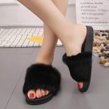 Compare Kleinsho Womens Flat Non Slip Soft Fluffy Faux Fur Flat Slipper Flip Flop Sandal Intl Prices