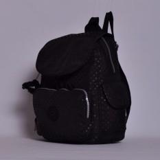 Klpllng Fashion Ladies Backpack Nylon schoolbag Multiple pockets Travelling bag(Black) - intl