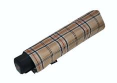 Knirps Fiber T1 Ac Beige Check 539 Folding Umbrella Sale