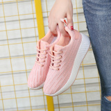 Discount Knitted Female Flat Autumn Shoes Athletic Shoes Pink Other China