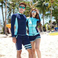 Korean-Style Couples Sunscreen Long-Sleeve Diving Suit By Taobao Collection.