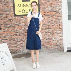 Korean Denim Suspender Skirt Slim Strap Short Skirts Casual A Line Shirting Overalls Loose Pinafore Skirts Intl Lowest Price
