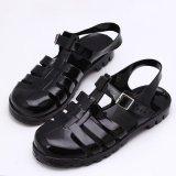 Sale Women S Korean Style Retro High Heeled Sandals Low Paragraph Black Low Paragraph Black Oem