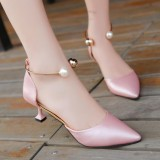 Low Price Korean Ladies High Heels Fashion Pearl S*xy Sandals Intl