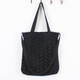 Buy Women S Korean Style All Match Lace And Canvas Bag Black Black Online China