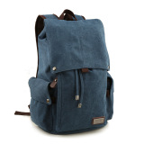 Where Can You Buy Korean Men S Canvas Backpack Retro Shoulder Travel And Leisure Man Bag Blue 66 6 Intl