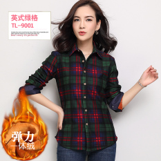 How To Get Han Brushed Fleece Lined Female Plaid Top Coat Warm Shirts Tl9001 Stretch Plus Velvet Tl9001 Stretch Plus Velvet