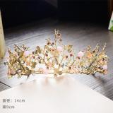 Discount Korean Sen Department Sweet Hair Accessories Bridal Jewelry Handmade Beaded Hair Bands Luxury Crystal Crown Wedding Dress Accessories Oem China