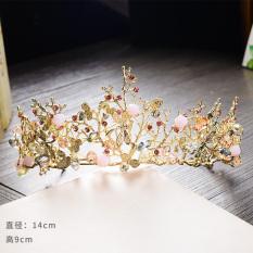 Sale Korean Sen Department Sweet Hair Accessories Bridal Jewelry Handmade Beaded Hair Bands Luxury Crystal Crown Wedding Dress Accessories Oem
