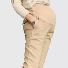 Buying Korean Spring Autumn Pregnant Women Haren Abdominal Pants Pure Cottonleisure Plus Size Comfortable Maternity Pants Khaki Intl