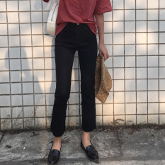 How To Get Korean Style Spring Summer New Style Slim Fit Jeans Black