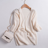 Sale Korean Style Spring And Autumn Long Sleeve Porous Thin Sweater Men S Sweaters Off White Color On China