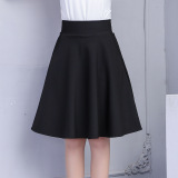 Best Rated Korean Style Autumn New Style Female Tutu Dress Skirt Black
