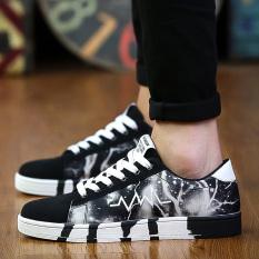 Cheaper Henai Men S Korean Style Breathable Skate Shoes 619 Black 619 Black