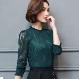 Discount Korean Autumn New Top Lace Top Beige Beige