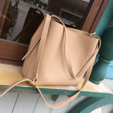 Review Women S Korean Style Minimalist Large Bucket Bag Beige Beige On China