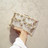 Best Offer Korean Style Black Bride Yan Hui Bao Evening Bag