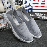 Compare Price Korean Style A Pedal Women S Shoes Mesh Shoes Gray On China