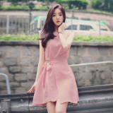Korean Style Cotton Linen Summer A Line Dress Women S Vest Skirt For Sale