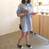 Review Women S Korean Style Long Sleeve Cotton Dress Oem On China