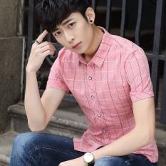 Where Can You Buy Korean Cotton Slim England Shirt Plaid Shirts Baneila 9901 Red Baneila 9901 Red